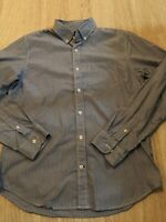 Gap Casual Blue White Stripe Button Down Shirt Cotton Men's Size Medium