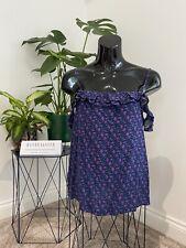 Hollister Floral Cami Camisole Cold Shoulder Top Floral Size Medium 8 10 12 Boho