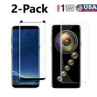 2-Pack Tempered Glass Screen Protector for Samsung Galaxy S9 S8 Plus Note 8 9