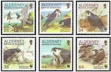 Timbres Oiseaux Rapaces Alderney 146/51 ** année 2000 lot 20898