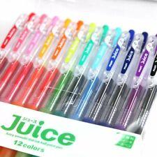 12 x Pilot Juice Gel Ink Retractable Click Pen Vibrant/Standard 0.38mm/0.5mm set