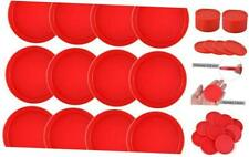 12 Pieces Home Air Hockey Pucks 2.5 Inch Heavy Replacement Pucks for Game Red