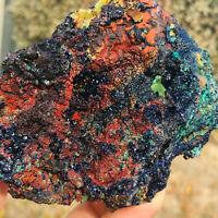 453g Natural Raw Azurite Malachite Geode Crystal Mineral Specimen Healing
