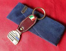 Barclay Denim Formula 1 Grand Prix Keyring Italian Top Quality Leather Enamel