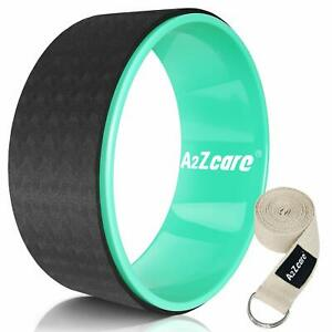 A2ZCare Yoga Prop Wheel for Stretching (Most Comfortable Dharma Yoga Wheel)