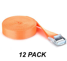 12 Pack Easy-to-Use Cambuckle Tie Down Straps 25mm x 2 metres