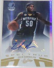 2010/11 Zach Randolph Grizzlies Panini Absolute Spectrum Auto Card #89 Ser #/99