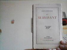 Jules Supervielle   Le Survivant. Nrf 1926  In 12 Broché  EO numérotée. BOn état