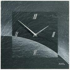 AMS 47 Wall Clock Natural Slate wohnzimmeruhrm Office Clock schieferuhr 546