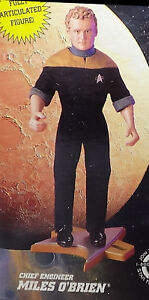 "9"" Miles O'Brien Playmates Federation Edition 1997 Star Trek DS9 Figure Unopened"
