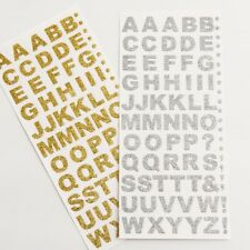 Sparkly Diamante Rhinestone Gems Numbers & Letters Self Adhesive 19 Designs Hearts 6mm Gold 80p