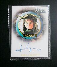 XENA KATE ELLIOT AS YAKUT (A28) AUTOGRAPH CARD - 2003