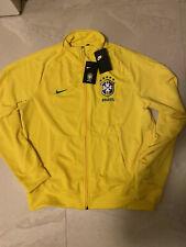 Nike Brazil Yellow Track Jacket L NEW