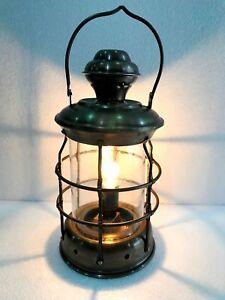 Decorative Vintage Brass Electric Lamp Maritime Ship Lantern Boat Hanging Light