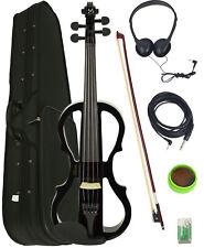 Barcelona 4/4-Size Electric Violin - Black w/ Case
