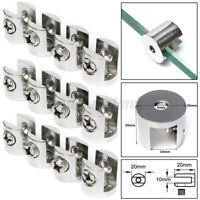 Glass Shelf Bracket Clamps Clip for Window Support Holder Zinc Alloy 6-8 mm ❃