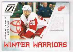 2010-11 ZENITH WINTER WARRIORS TOMAS HOLMSTROM JERSEY 1 COLOR DETROIT RED WINGS