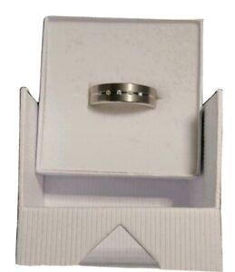 Boccia Titanium Ring Gr 50 Damen 5 Diamanten