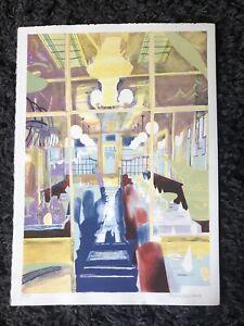 GLYN BOYDE HARTE 1948-2003 Ltd Ed LITHOGRAPH Interior, Elena's Restaurant ed150