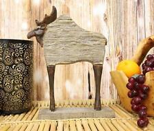 "Ebros Faux Driftwood Finish Bull Moose Totem Tiki Wildlife Desktop Statue 12.5""H"