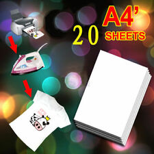 20x A4 Heat Transfer T-Shirt Laser/Inkjet Iron-On Paper For Light Fabric US SHIP