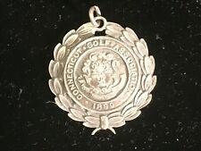 1922 STERLING SILVER GOLF MEDAL CONNECTICUT CHAMPIONSHIP BEAUTIFUL DETAIL GOLFER