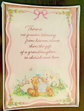 New Baby Girl Granddaughter Birth Announcements - Hallmark - 8 Count w Envelopes
