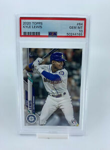 2020 Topps #64 Kyle Lewis Seattle Mariners RC Rookie Card PSA 10 GEM MINT
