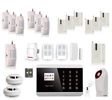 Kit Alarme maison avec détecteurs anti vol SANS FIL ADSL GSM App iOs Android