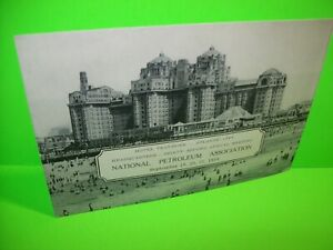 Hotel Traymore 1934 Original Atlantic City NJ Post Card National Petroleum Assoc