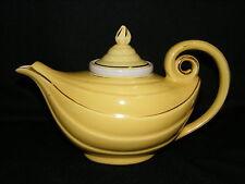 Vintage Hall 6 Cup Yellow Aladdin Alladin Teapot w Infuser Gold Trim