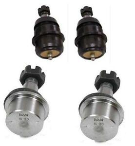 JEEP GRAND CHEROKEE WJ WG 1999-2004 2 LOWER BOTTOM 2 UPPER TOP BALL JOINTS FRONT
