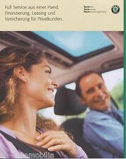 Prospekt Škoda Finanzierung Leasing Versicherung 9 01 brochure 2001 Auto PKWs