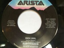 """THE EURYTHMICS 45 RPM """"Rich Girl"""" & """"Didn't Ask Me Why"""" VG to VG+ condition"""
