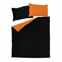 Black and Orange - SoulBedroom 100% Cotton Reversible Duvet Cover & Pillow Cases