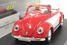 PINK KAR CV027 VW VOLKSWAGEN BEETLE NEW 1/32 SLOT CAR IN DISPLAY CASE