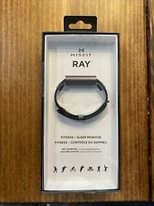 Misfit Ray Fitness Tracker Sleep Monitor - Carbon Black and Leather Band