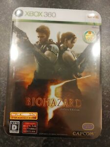 Japanese Xbox 360 Biohazard 5 (Resident Evil 5) Deluxe Edition Brand New Sealed