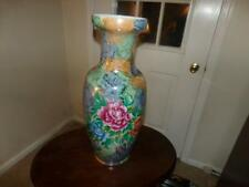 "STAND UP VASE GOLD GLIT ROSES MULTI COLORED APPROX. 24"" WOW FLOOR VASE"