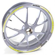 ESES Pegatina llanta Honda plata CBF 500 CBF500 I Amarillo adhesivo cintas vinil