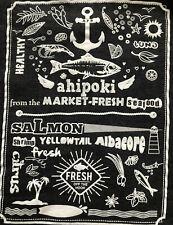 AHIPOKI FRESH Seafood, TUNA, SALMON, YELLOWTAIL, ALBACORE Employee T-shirt XL