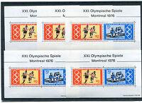 5 x Bund Block Nr. 12 ** postfrisch BRD 888 - 889 Olympische Spiele 1976 Olympia