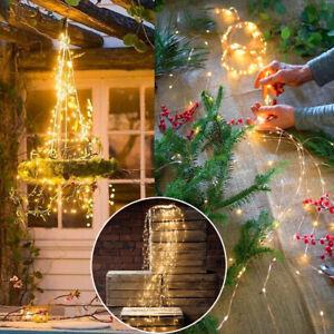 100 200 LEDs Wasserfall Lichterkette Reben Licht Party Weihnachten Garten Dekor