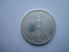 5 Reichsmark 1934 J German Hitler Silver Third Reich Nazi Swastika WW2 RARE