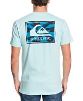 Quiksilver Mens T-Shirt Classic Light Blue Size XL Graphic Tee $25- #346
