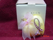 AVON BREAST CANCER CRUSADE HEART WITH PINK STONES ORNAMENT