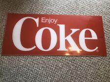 "Vintage Coca Cola Coke Machine SIGN Insert 34.5"" x 14.25"" Plastic Sign"
