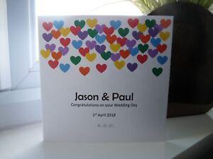 Personalised LGBT Gay Lesbian Same Sex Wedding Day Engagement Anniversary Card