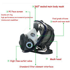 Full Face Gas Mask Facepiece Respirator For Painting Spraying Smoke Wide Vision