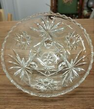 VINTAGE CUT GLASS FOOTED CANDY DISH
